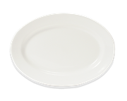 """Picture of White Porcelain Oval Plate 7"""""""