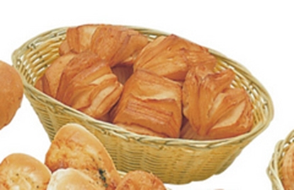 """Picture of Oval Plastic Covered Bread Basket 9x6.7"""" (23x17cm)"""