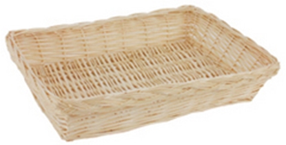 "Picture of Light Willow Bread Basket 14.6x10.6x3"" (37x27x7.5cm)"