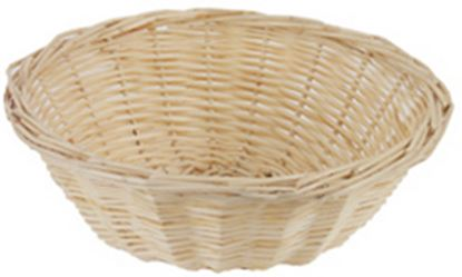 "Picture of 22cm (8.5"") Round Light Willow Bread Basket"