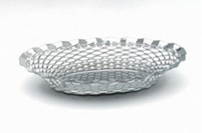 """Picture of Oval Stainless Steel Bread Basket 9.5x6.9"""" (24x17.5cm)"""