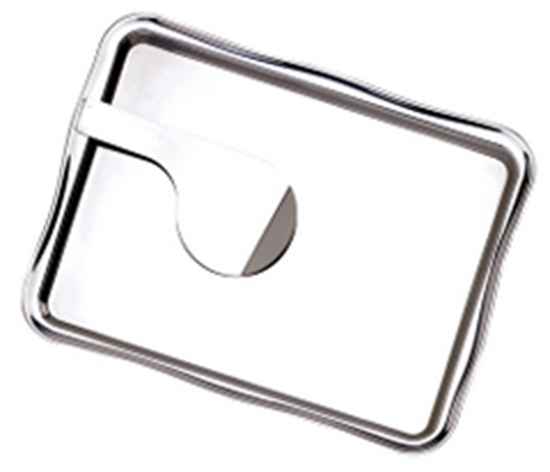 """Picture of Stainless Steel Bill Presenter With Clip 7.5x5.5"""" (19x14cm)"""