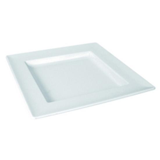 "Picture of White Dover Square Tray 9.8x9.8x1.2"" (25x25x3cm)"
