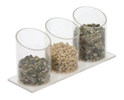 """Picture of Nut/Seed Acrylic Unit 10.6x3.9x3.5"""" (27x10x9cm)"""