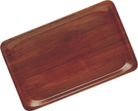 "Picture of Mahogony Non-Slip Tray 17.7x14.2"" (45x36cm)"