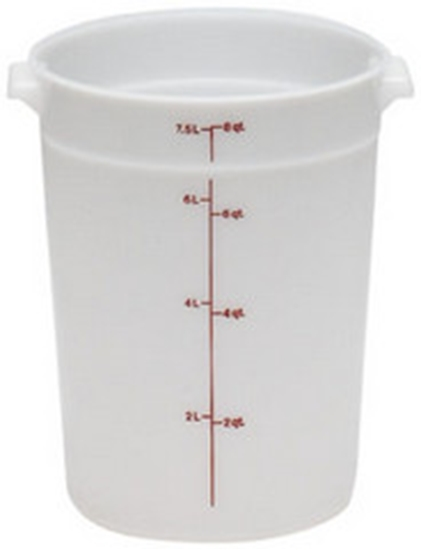 Picture of Round Polypropylene Storage Container 7.6Lit
