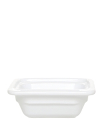 Picture of White Gastronorm Dish 1/6