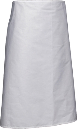 "Picture of White Long Apron With Pocket 27.6x35.4"" (70x90cm)"