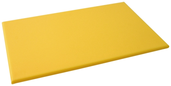 """Picture of Yellow High Density Chopping Boards 24x18x0.7"""" (60x45x1.8cm)"""