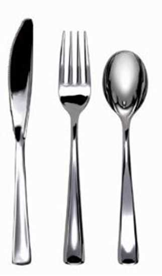 Picture of Plastic Metallic Forks