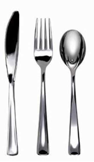 Picture of Plastic Metallic Dessert Spoons
