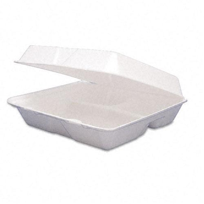"""Picture of White 2 Comp Meal Box 9.8x7.9x3"""" (25x20x7.5cm)"""