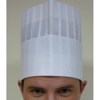 "Picture of Disposable Pleated Chefs Hat 7.5"" (19.5cm)"