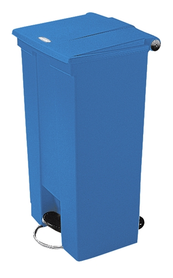 Picture of Rubbermaid  68Lit Blue Step-On Container*