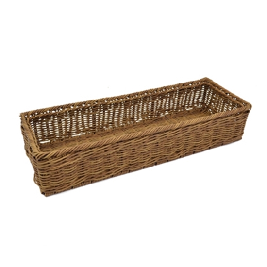"""Picture of Polywicker Rectangle Basket 21.7x7.7x4.3"""" (55x19.5x11cm)"""