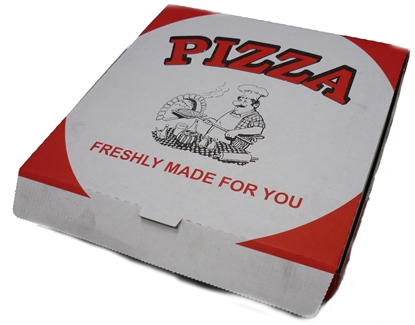 "Picture of White Pizza Box 12"" (30cm)"