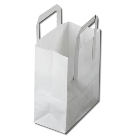 """Picture of White Paper Carrier Bag 7.1x3.5x8.5"""" (18x9x21.5cm)"""