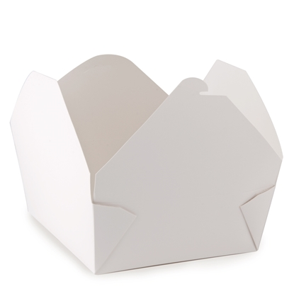 "Picture of Small White Snack Box 5x4.5"" (12.8x11.5cm)"