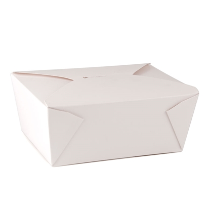 """Picture of Large White Snack Box 8.8x4.5"""" (22.3x11.5cm)"""