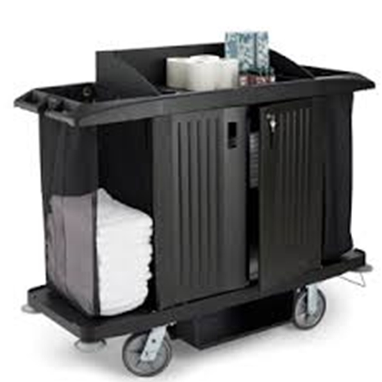 Picture of Rubbermaid  Black Large Housekeeping Cart*