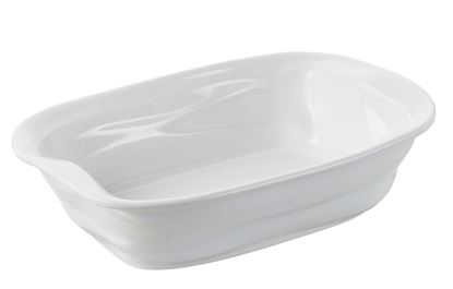 Picture of 19 x 13cm White Rectangular Dish
