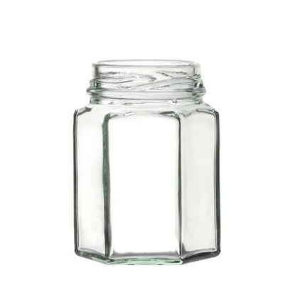 Picture of Hexagonal Glass Jar 29.6cl (10oz)