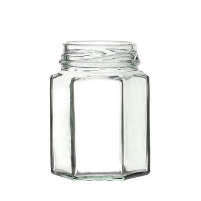 Picture of Hexagonal Glass Jar 29.6cl (10oz)