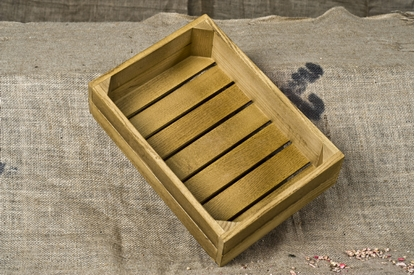 """Picture of Wooden Display Box 9.6x13.8x3.5"""" (24.5x35x9cm)"""