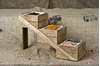 """Picture of Three Tier Rustic Wooden Display Stand 7.1x22x13"""" (18x56x33cm)"""