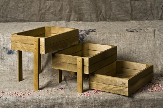 "Picture of Three Tier Wooden Nesting Box 19.3x13.8x3.5"" (49x35x9cm)"