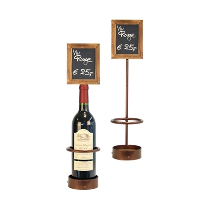 "Picture of Wine Bottle Chalk Board Display 17.7x4.1"" (45x10.5cm)"