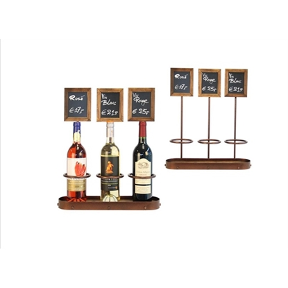 "Picture of Three Wine Bottle Chalk Board Display 17.7x15.2"" (45x38.5cm)"