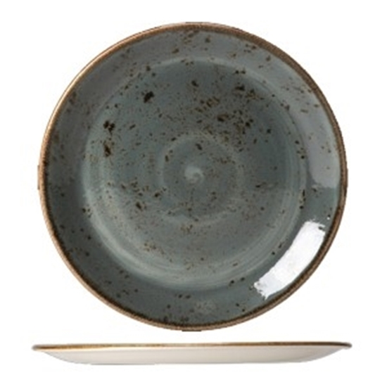 "Steelite Craft Blue Coupe Plate 11.75"" (30cm)"