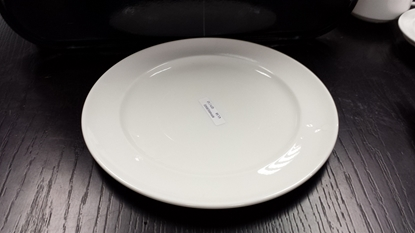 Picture of White Vitrified Porcelain Plate 26cm