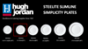 Hugh Jordan Simplicity Slimline Porcelain Plate