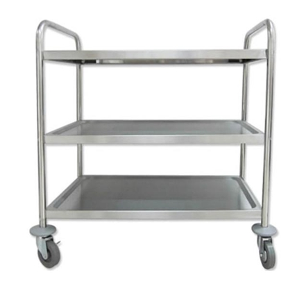 """Picture of Stainless Steel Kelvin 3 Tier Trolley 35.4x20.1x35.4"""" (90x51x90cm)"""