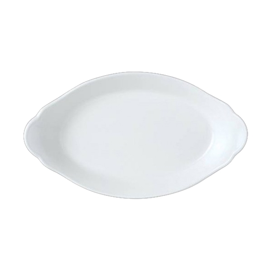 """Picture of Steelite Cookware Oval Eared Dish 13.4x7.5"""" (34x19cm)"""