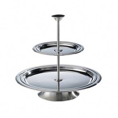 Picture of Two tier Stainless Steel Tramontina Cake Stand