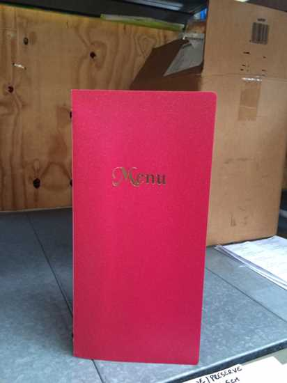 Picture of Red 4 Page Menu Holder