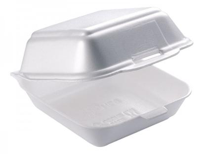 "Picture of White Burger Box 4.7x4.7x3"" (12x12x7.5cm)"