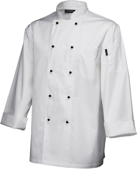 Picture of White Long Sleeve Superior Chef Jacket (M)