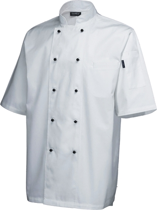 Picture of White Short Sleeve Superior Chef Jacket (L)