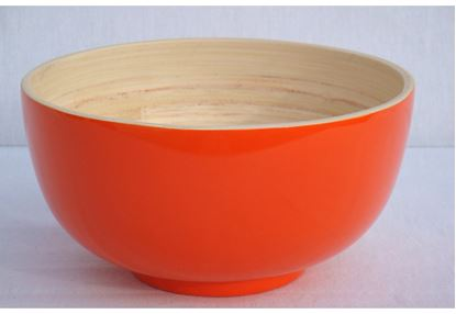 Picture of Orange Bamboo Bowl