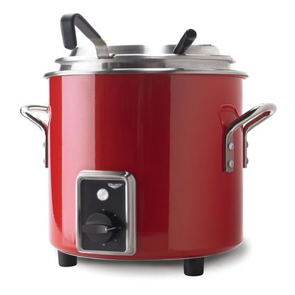Picture of Vollrath Red Retro Soup Kettle  10L