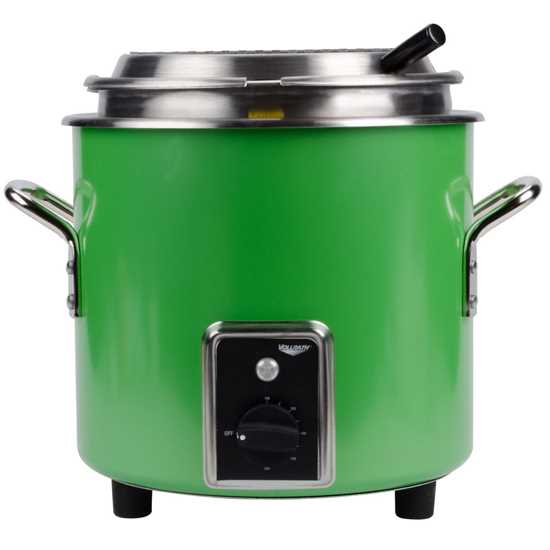 Picture of Vollrath Green Retro Soup Kettle 10L