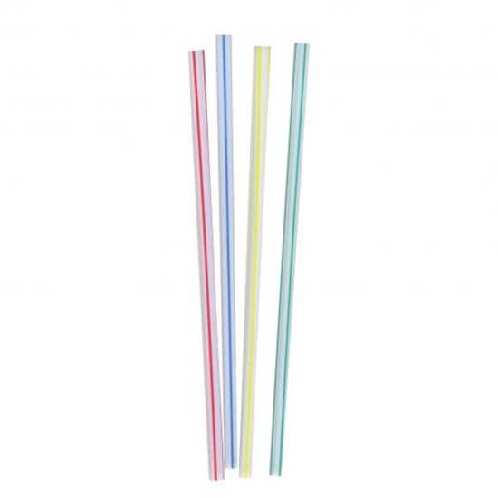 "Picture of 20cm (8"") Jumbo Multi Coloured Straws (Box-250)"