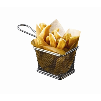 """Picture of Stainless Steel Serving Fry Basket 4.9x3.9x3.3"""" (12.5x10x8.5cm)"""