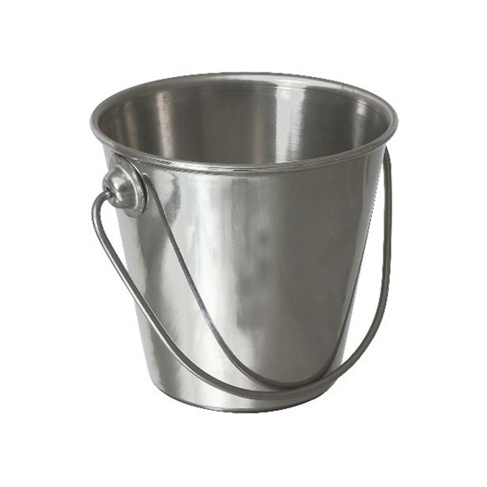 """Picture of Premium Stainless Steel Bucket 3.5x3.3"""" (9x8.5cm)"""