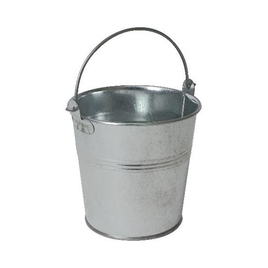 "Picture of Round Galvanised Bucket 3.9x3.5"" (10x9cm)"