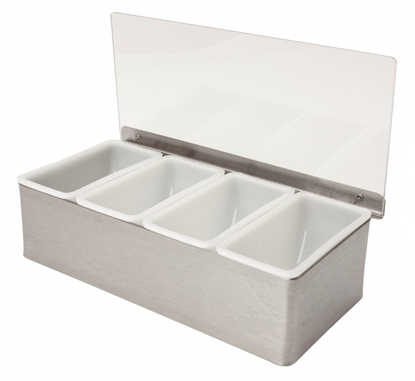 Picture of Stainless Steel Condiment Holder 4 Compartment